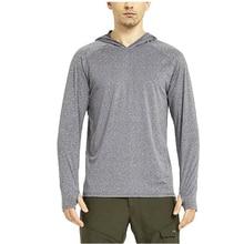 Весенняя Мужская рубашка с капюшоном для рыбалки, футболка с длинным рукавом для бега, рыбалки, пешего туризма, велоспорта, воздухопроницаемая рубашка UPF 30 размера XS-XL
