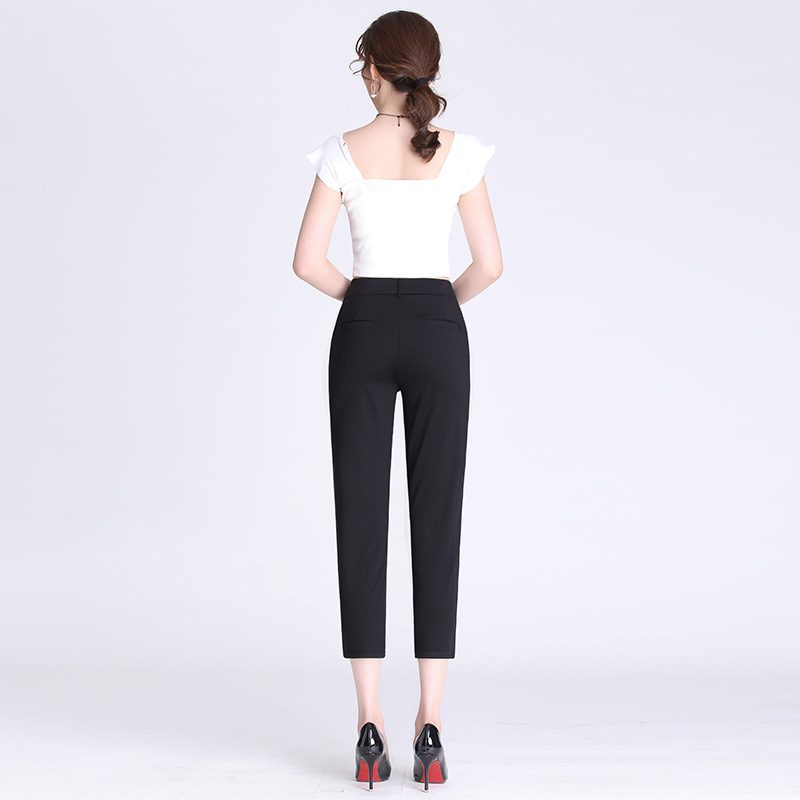 Slimming Black Trousers Children 2019 New Style Korean-style Loose-Fit Spring And Summer Small Suit Pants Drainpipe Jeans Harem
