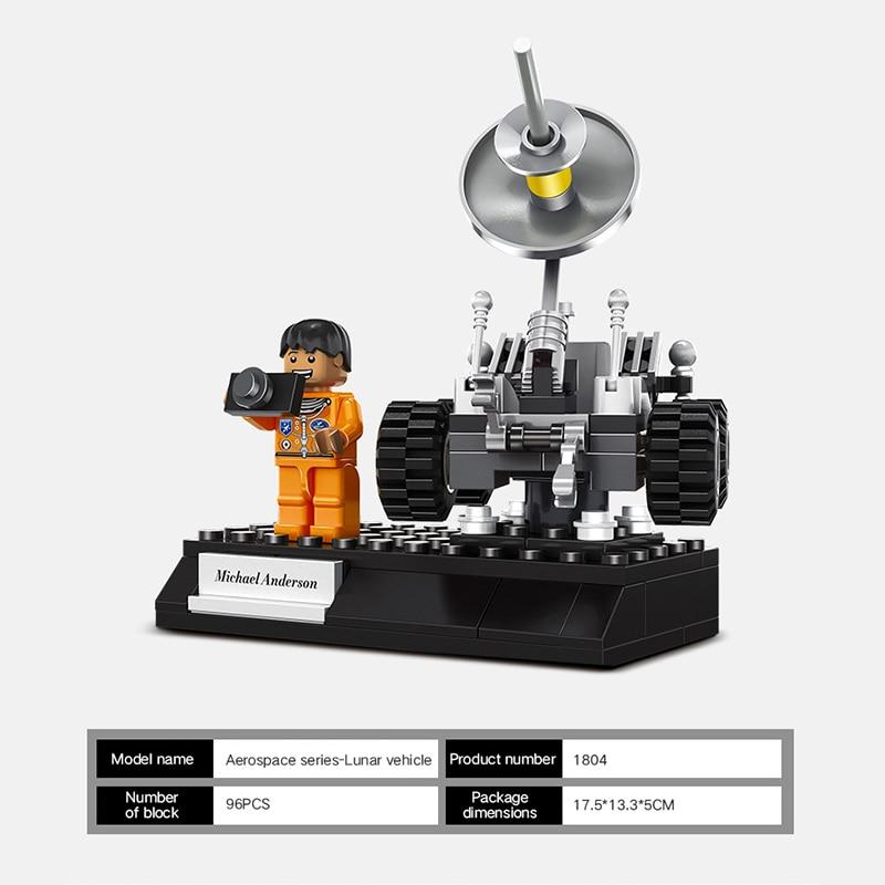Nouvelles idées Station spatiale Satellite fusée pilote blocs de construction modèle ensembles briques classique étoile voyage film pour enfants jouets
