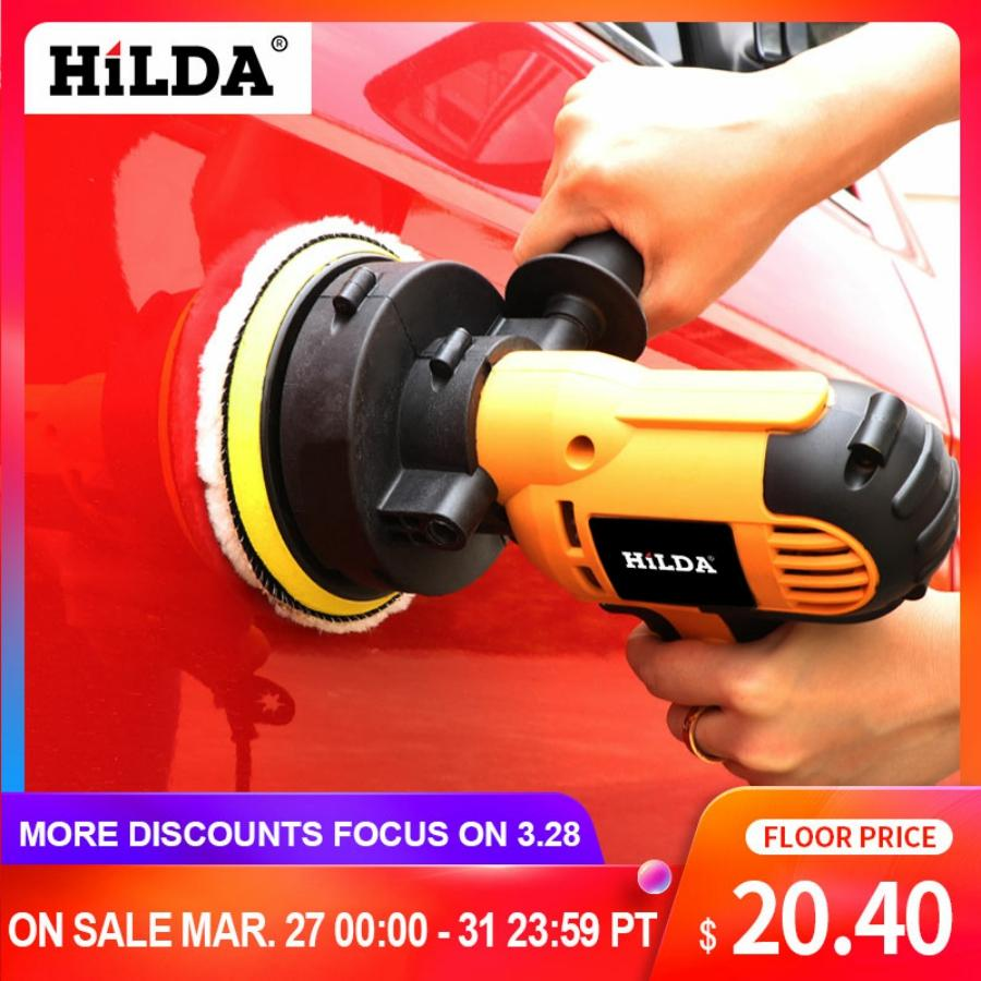 HILDA 600W Car Polisher Machine Auto Polishing Machine Adjustable Speed Sanding Waxing Tools Car Accessories Powewr Tools