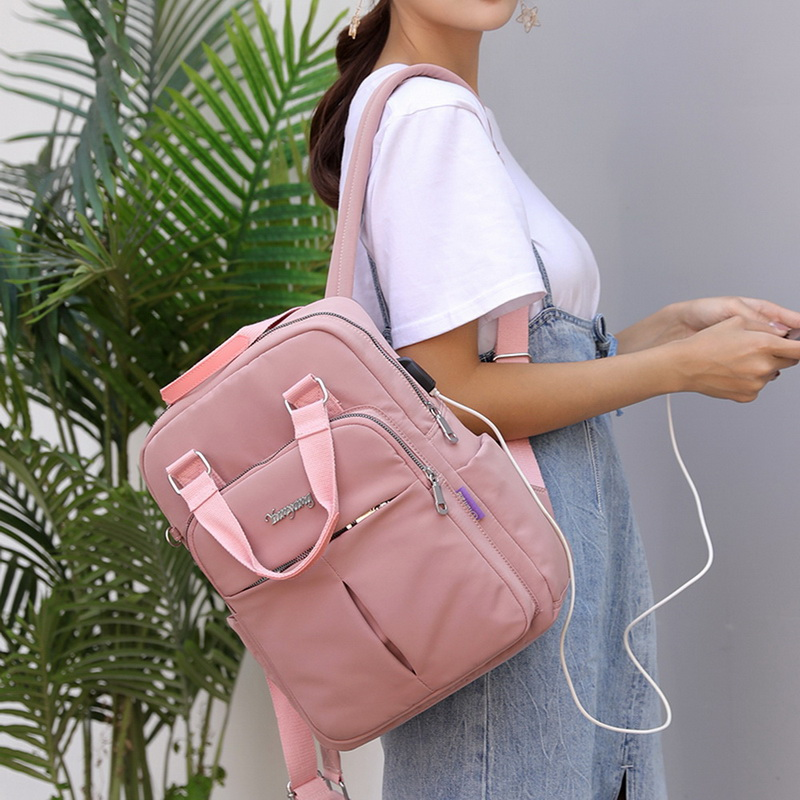 H6dd5916a5e704eb3bc4712e151cd91d35 - New Waterproof Nylon Backpack for Women Multi Pocket Travel Backpacks Female School Bag for Teenage Girls Dropshipping