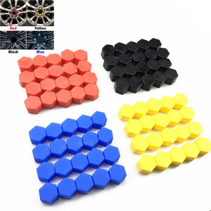 20pcs 17mm 19mm 21mm Black Car Wheel Caps Bolts Covers Nuts Silicone Auto Wheel Hub Protectors Screw Cap styling Anti Rust Cover