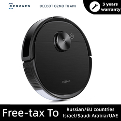 ECOVACS DEEBOT OZMO T8 AIVI Vacuum Cleaner Robot with the OZMO pro