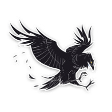Hot Sell Creative Coolest Crow Decor Car Sticker Motorcycle Stickers Superior Quality Vinyl Decals Anti UV PVC 13cm X 15.6cm