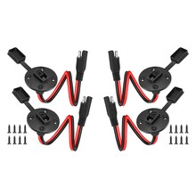 4Pcs SAE Steckdose Seitenwand Port Quick Connect Solar Panel Halterung Universal Flush-Montierbar Stecker 12AWG Kabel für solar Ge(China)