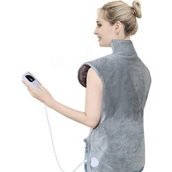 6 Heating Level Soft Microwave Neck and Shoulder Wrap Heating Pad Electric Auto Shut Off Body Warmer Back Pain Relief 94*56CM
