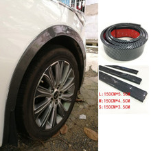 Universal Car Truck Carbon Fiber Rubber Wheel Eyebrow Protector Lip Sticker Trim Fender Flare Anti-scratch стоимость