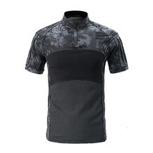 Outdoor Camo Tactical Shirt Military Hunting Short Sleeve T-shirt Men Quick Dry Hiking Clothes Camouflage Army Combat Shirts