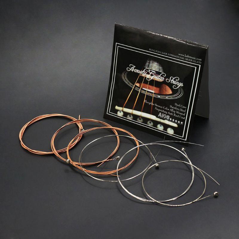 IRIN A108 акустические гитарные струны фосфорная бронзовая окраска сплав ранка 1st-6th(.009-.045) Аксессуары для музыкальных инструментов
