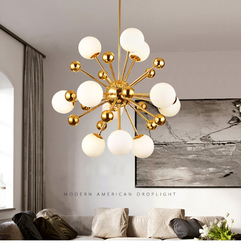 Glass Led Lamp Modern Design Chandelier 2