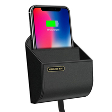 high quality hangable qi car wireless charger for bmw f10 f11 f30 f32 f15 f16 charging box pad stand air vent phone holder
