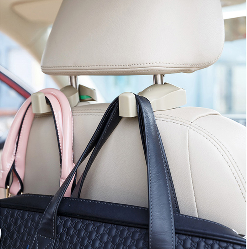 Car Headrest Hook Auto Seat Headrest Bag Hook For Range Rover Evoque Range Rover Sport Vogue Velar Seat Hanger Universal Parts