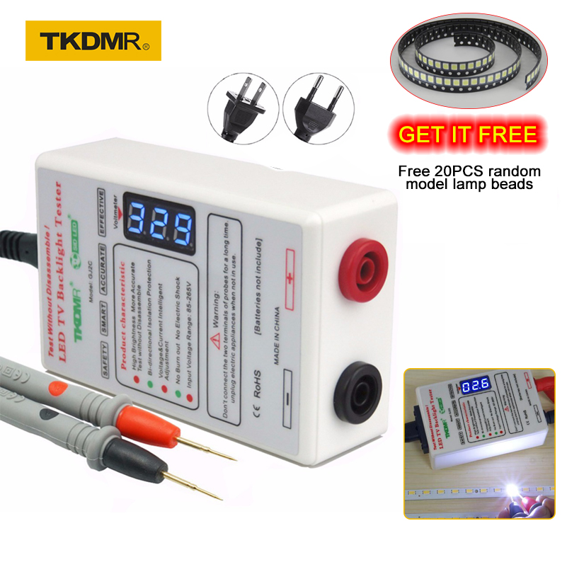 """""""TKDMR"""" išvesties 0–330 V šviesos diodų lemputės. Apšvietimo testerių įrankis """"Smart-Fit"""" įtampa, tinkama visų dydžių LCD televizoriams. Neardykite ekrano."""