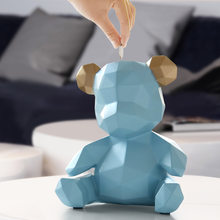 Simple Nordic Creative Bear Piggy Bank Home Furnishing Decoration Wedding Storage Box Money Children Coins Holders Box Kids Toy