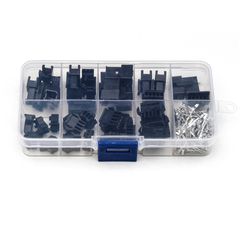 200pcs/set Electrical Terminal Connector <font><b>Assortment</b></font> Tools Crimp Housing Wire Jumper <font><b>Header</b></font> Wire Car Male/Female <font><b>Pin</b></font> With Box image