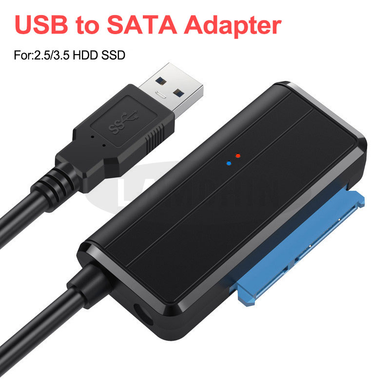 USB 3.0 SATA 3 Cable Sata To USB Adapter Support 2.5 Or 3.5 Inch External SSD HDD Hard Drive Plug And Play 22 Pin Sata III Cable