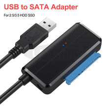 USB 3,0 SATA 3 Cable adaptador Sata a USB de apoyo 2,5 o externo de 3,5 pulgadas SSD Disco Duro HDD macho y 22 Pin Sata III Cable(China)
