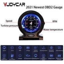 Compteur numérique de sécurité avec écran LCD, OBD2, affichage tête haute, alarme de sécurité, température de l'eau et de l'huile, horloge, nouveau modèle 2021