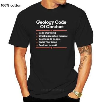 Męska koszulka z krótkim rękawem geologia kodeks postępowania śmieszna koszulka geologiczna klasyczna koszulka damska t-shirt tanie i dobre opinie CASUAL SHORT CN (pochodzenie) COTTON Cztery pory roku Na co dzień Z okrągłym kołnierzykiem 2018 men women Sukno Drukuj