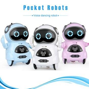 Robot de bolsillo Mini Robot juguetes de regalo de conversación interactivo de reconocimiento de voz disco de baile de voz Robot inteligente AN88