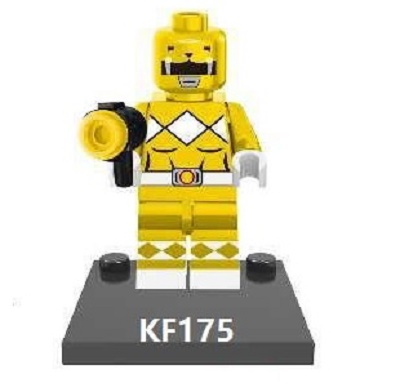 Single Sales Yellow Power Super Heroes Figures Collection Action Bricks Building Blocks Education Best Gifts Kids Toys KF175