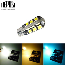 цена на W5W T10 Car Led Bulbs 24 SMD Side Wedge Dome Light Reading Turn Signal Lamp 194 168 2835 White Warm White Ice blue 12V