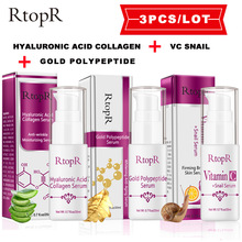 RtopR 1/3pc/set  C Serum+Gold Polypeptide Serum+Hyaluronic Acid Collagen Face Essence Serum Skin care Professional