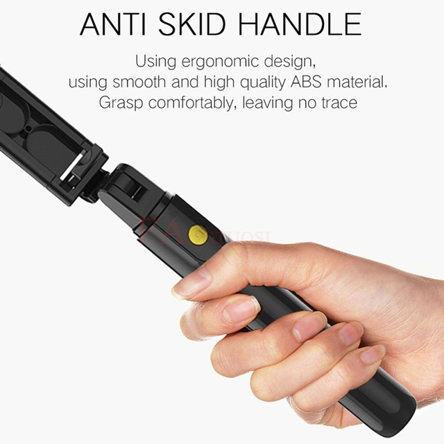 FANGTUOSI 3 in 1 Wireless Bluetooth Selfie Stick Extendable Handheld Monopod Foldable Mini Tripod With Shutter Remote For iPhone 3