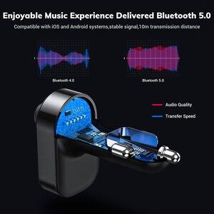 Image 3 - TOPK 4.1A podwójna ładowarka samochodowa USB nadajnik FM Bluetooth Car Audio odtwarzacz MP3 szybka ładowarka samochodowa ładowarka do telefonu iPhone