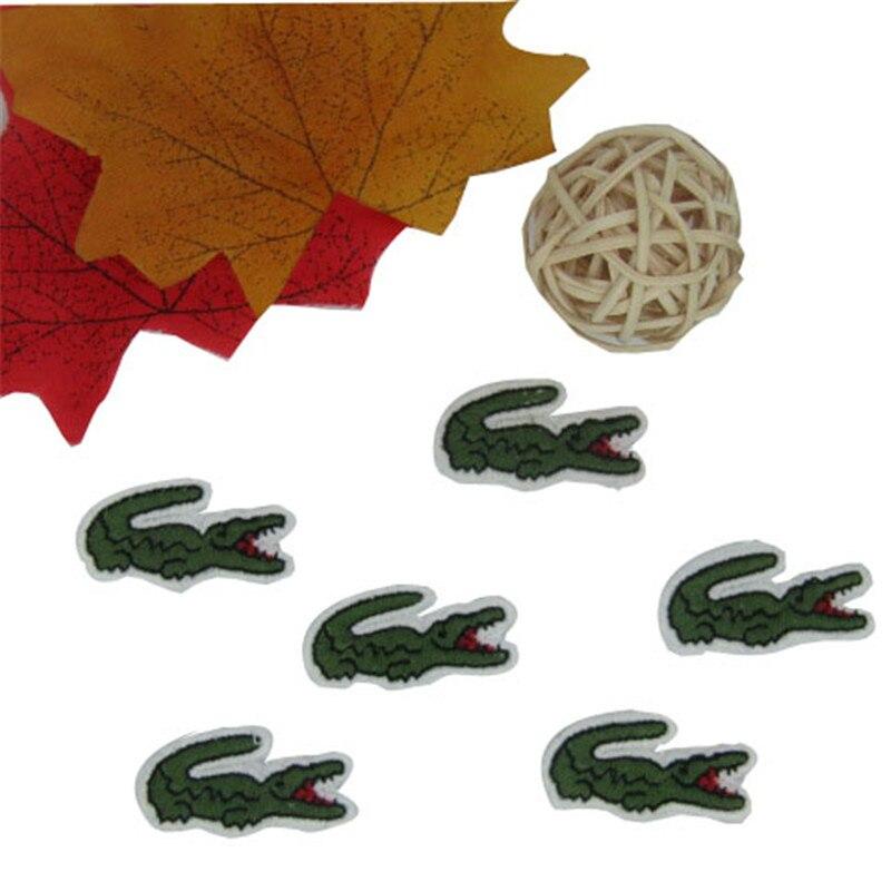 15 шт. крокодил пришить патч принадлежности для аппликации 1,5*3 см патчи для одежды заплата вышивки формы, бренд, сделай сам аксессуар
