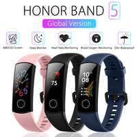 Originale Globale Versione Huawei Honor Fascia 5 AMOLED Intelligente Wristband Ossimetro di Ossigeno Nel Sangue 50m Impermeabile Frequenza Cardiaca Sonno Tracker