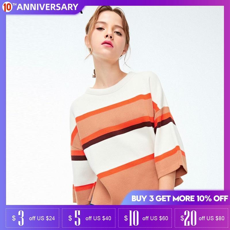 Vero Moda Autumn & Winter Drop-shoulder 3/4 Sleeves Sweater  319124530