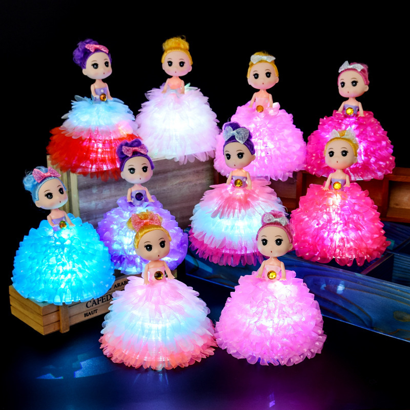 Hot Sell Mini Colorful Confusing Doll Glowing Portable Lantern Toy Luminous Night Light Tiny Doll Baby Girl Small Gift LED Lamp