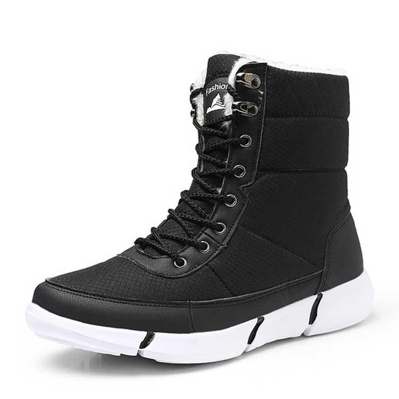 Kadın botları kaymaz su geçirmez kış ayak bileği kar botları kadın platformu kış ayakkabı ile kalın kürk botas mujer
