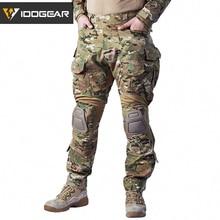 IDOGEAR G3 Брюки Мультикам боевые брюки военная армия страйкбол Тактические Bdu камуфляжные брюки зима Охота 3205
