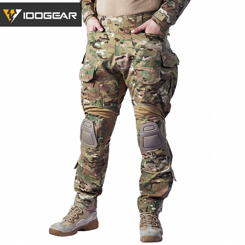 IDOGEAR G3 Pants Multicam Combat Trousers Military Army Airsoft Tactical  Bdu Camouflage Pants Winter Hunting 3205