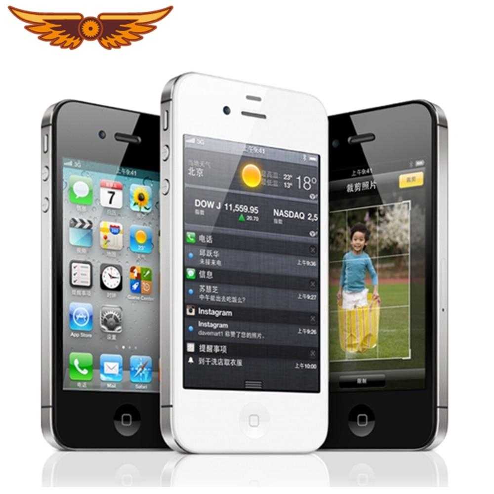 Apple iPhone 4s Apple A5 double noyau 3.5 pouces 8/16/32/64GB ROM GSM 8MP caméra WIFI GPS IOS Apple 4S téléphone portable débloqué dorigine