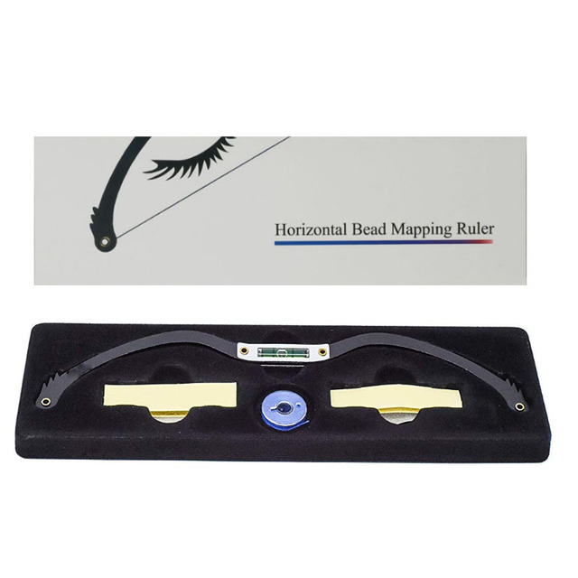 Professional Eyebrow Mapping Thread for Perfectly Shaped Brow Eyebrow Marker Ruler Featuring Bubble Leveler Eyebrow Mapping Tool 1