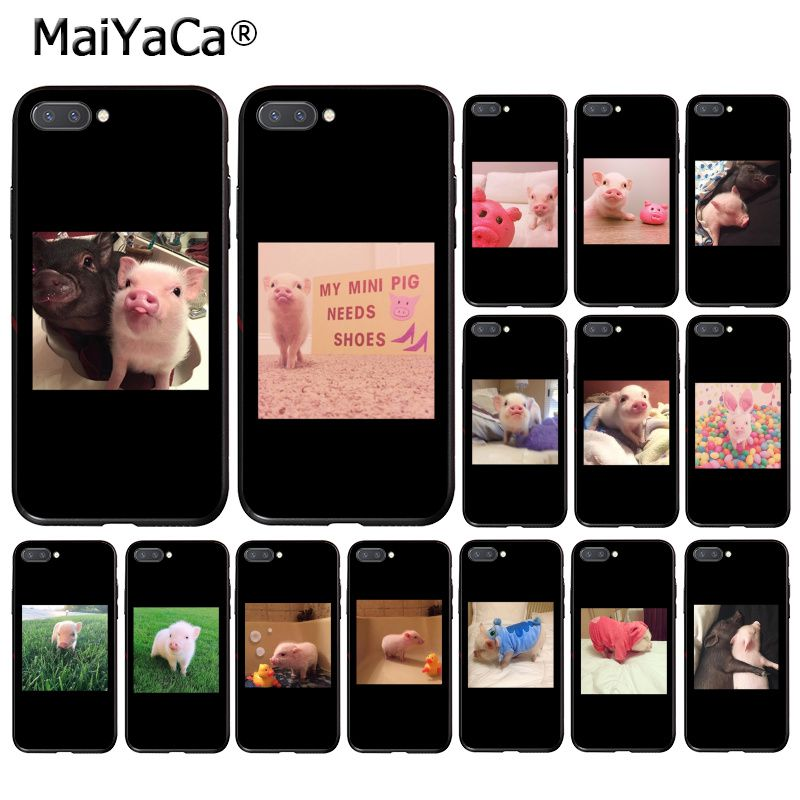 MaiYaCa Couples Cartoon Lovely Pink Pet Pig Phone Case for <font><b>Huawei</b></font> <font><b>Honor</b></font> <font><b>8X</b></font> 9 10 20 Lite 7A 5A 7C 10i 20i View20 image