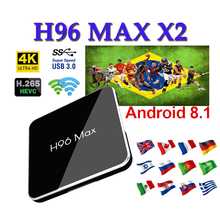 Netherlands android tv box H96 MAX X2 boxing 4GB 32GB 64GB 8.1 set top support Youtube Nexflix for boxes