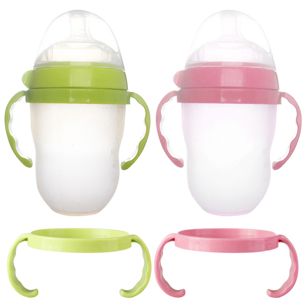 2pcs Heat Resistance Feeding Milk Bottle Handle Grip For Comotomo Baby Milk Bottle Accessories Infant Baby Feeding Bottle Handle