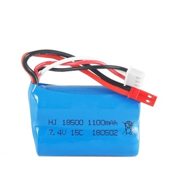 7.4V 1100mAH 15C Lipo Battery For MJX T10 T11 T34 HQ 827 871 Remote control helicopter battery 7.4 V 1100 mAH 18500 toyS battery image