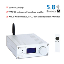 BORIZSONIC NXC01 DAC Audio ES9038Q2M Bluetooth 5.0 USB XMOS Audio Decoder Stereo DSD512 APTX HD Desktop Amplifier цена 2017