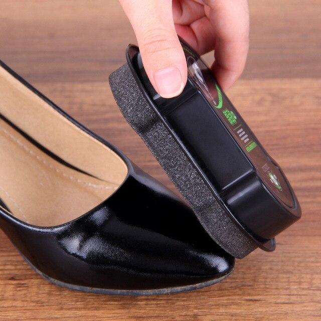 Губка с кремом для чистки обуви бесцветный обувной воск 6