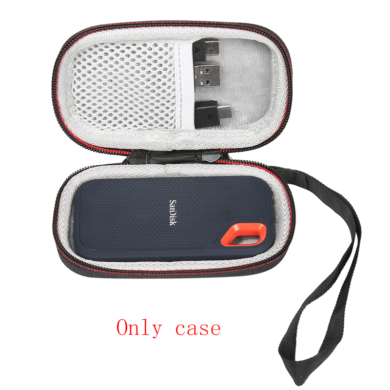 2019 New Hard Case For SanDisk 250GB / 500GB / 1TB / 2TB Extreme Portable SSD SDSSDE60, Carrying Storage Bag (only Case)