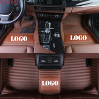 ETOATUO custom logo car floor mats for Subaru All Models forester BRZ XV Outback Legacy car styling car accessories car mats car