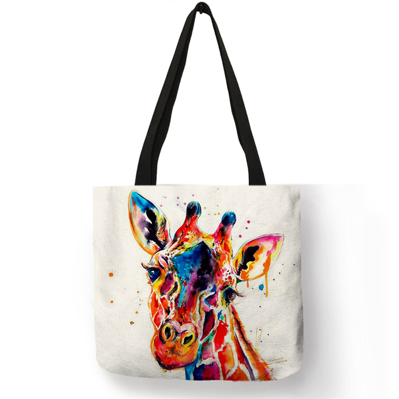 SY0060 Classic Giraffe Deer Print  Tote Bags For Women Casual Handbags Shopping Bag Large Capacity Dropshipping Wholesale