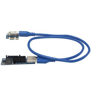 UEX101 PCI-E X1 to X1 Extension Riser Card Adapter with USB3.0 Cable