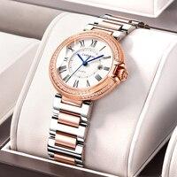 Switzerland CARNIVAL 2020 New Women Watches Luxury Brand Diamond Imported Quartz Ladies Watch Trendy Dress Clock montre femme