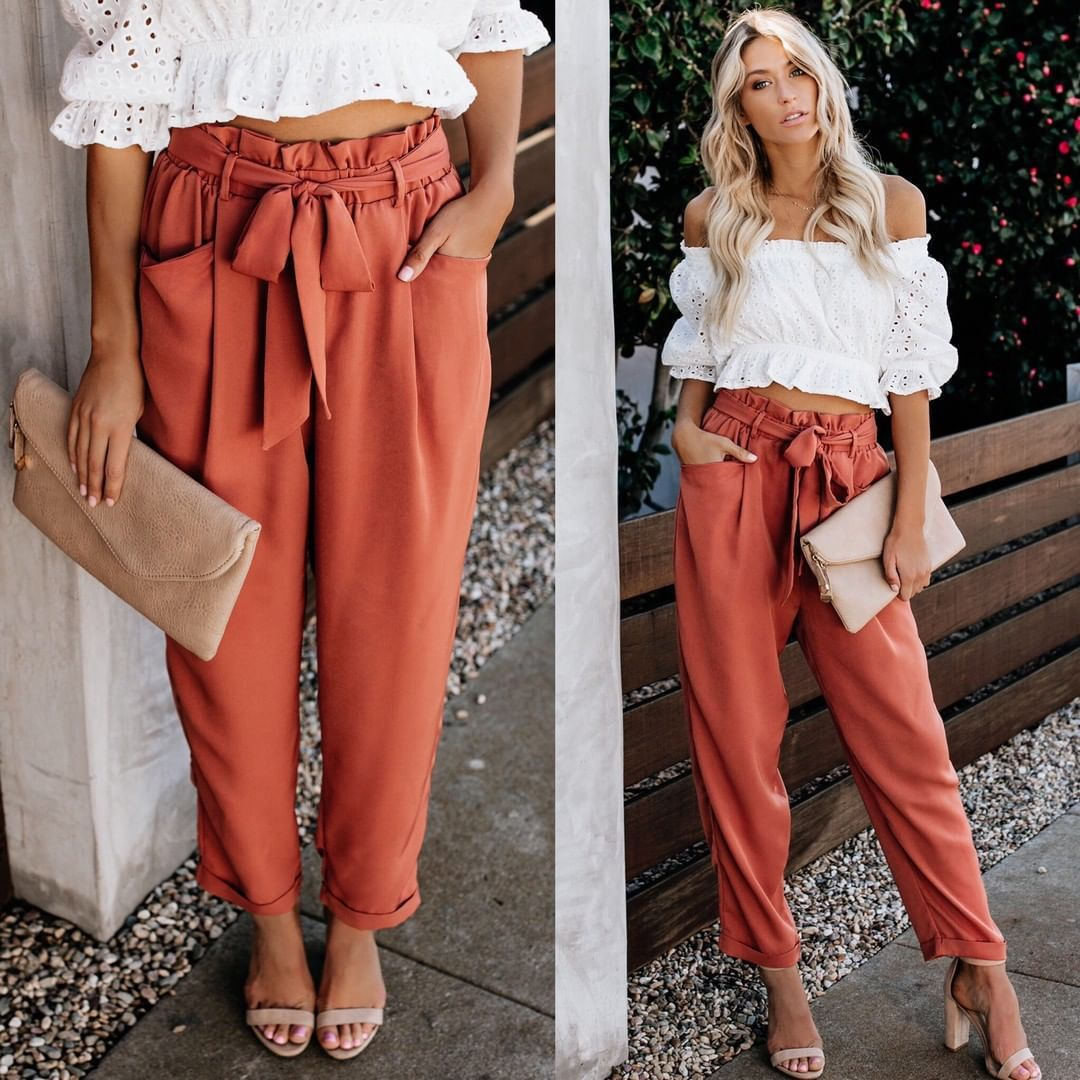 Leisure sport/ female   Pants     capris   women High Trousers harajuku clothes streetwear pantalones korean plus size women   Pants